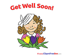 Woman Flowers printable Get Well Soon Images