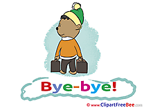 Bear Suitcases download Clipart Goodbye Cliparts
