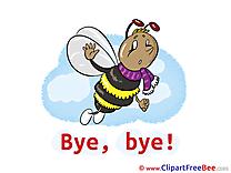 Bee Pics Goodbye Illustration