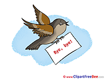 Bird Letter Clipart Goodbye free Images