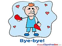 Boy Hearts Broken Heart Goodbye download Illustration