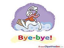 Bunny printable Illustrations Goodbye