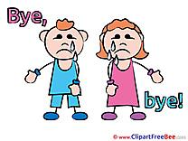 Children download Clipart Goodbye Cliparts