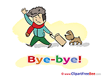 Dog Man Cliparts Goodbye for free