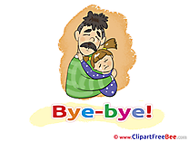 Father Daughter Goodbye Illustrations for free