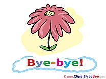Flower printable Illustrations Goodbye