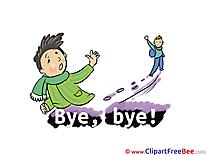 Friends Boys download Goodbye Illustrations