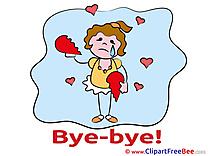 Girl Broken Heart Clip Art download Goodbye