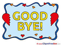 Goodbye Hearts Clip Art for free