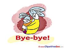 Hares Clip Art download Goodbye