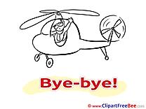 Helicopter Man free Illustration Goodbye
