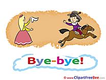 Horse Prince Princess free Cliparts Goodbye