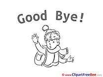 Kid Schoolboy Goodbye free Images download
