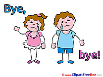 Kids printable Illustrations Goodbye