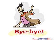 Man Pics Goodbye Illustration