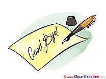 Pen Letter Pics Goodbye free Image