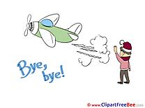 Plane Child Boy Goodbye download Illustration