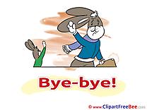 Rabbits download Goodbye Illustrations
