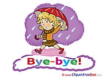Rain Umbrella Girl free Illustration Goodbye