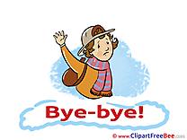 Schoolboy printable Goodbye Images
