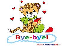 Tiger Broken Heart Pics Goodbye Illustration