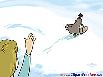 Woman Man Snow Winter free Cliparts Goodbye