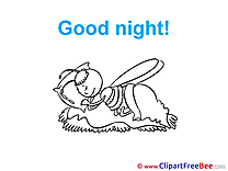 Bee Good Night Illustrations for free