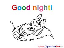 Bee printable Good Night Images