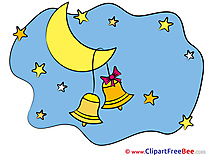 Bells Moon Stars Clipart Good Night Illustrations