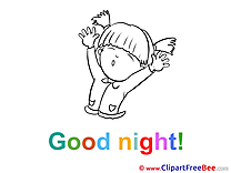 Girl Clipart Good Night Illustrations