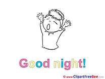 Kid Clip Art download Good Night