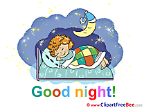 Kid Moon free Cliparts Good Night