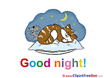 Mouse Cat printable Illustrations Good Night