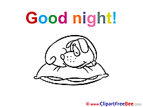 Puppy Pillow free Cliparts Good Night