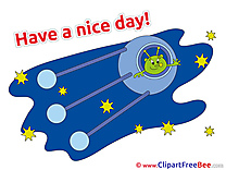 Alien Space Spaceship free Cliparts Have a Nice Day