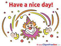 Clown Pics Have a Nice Day Illustration