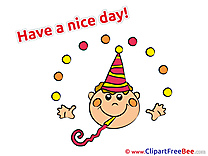 Party Hat Boy Clip Art download Have a Nice Day
