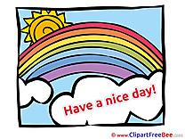Rainbow Sun Have a Nice Day download Illustration