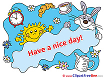Sun Rabbit Morning download Have a Nice Day Illustrations