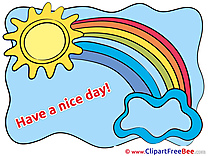Sun Rainbow Cloud Cliparts Have a Nice Day for free