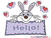 Bunny Hearts Clip Art download Hello