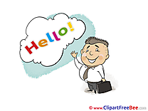 Businessman printable Hello Images