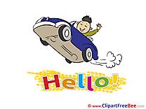 Car Man Driver Clipart Hello Illustrations