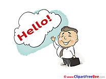 Man Businessman  Hello Illustrations for free