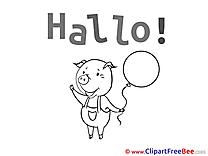 Piggy Balloon Pics Hello free Image