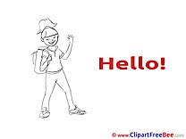 Schoolgirl download Clipart Hello Cliparts