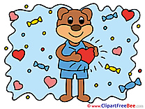Bear in Love free Images download