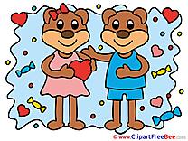 Bears Hearts Love download Illustration