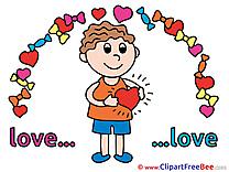 Boy free Illustration Love