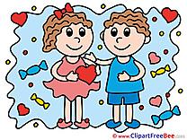 Children Hearts Pics Love Illustration